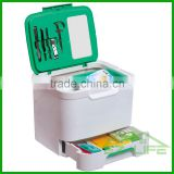 hot sale plastic first-aid emergency hospital PP green empty medical storage box/kit/case/tool