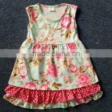 girls floral printed birthday dresses remake beautiful baby flower frock design in summer