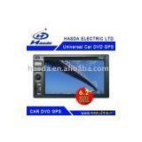 In-Dash double DIN Car DVD with FM/AM /USB/SD card/Built-in TV/GPS/6.2
