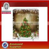Wholesale waterproof European christmas polyester shower curtain with hook