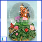 butterfly and flowers cheap snow globe