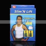 Mens Slimming Body Shaper Vest Shirt Abs Abdomen Slim#MV-01