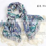 Neew style gardens floral women winter warm pashmina shawl wool shemagh scarf