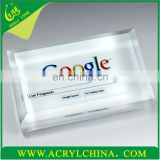 New hot sell clear acrylic cheap glass paperweight