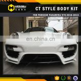 auto part CT design style carbon fiber / fiber glass front bumper body kit for porsch-e panamer-a 970 2010-2013