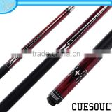CUESOUL 1/2 Pool Cue with Maple Shaft,Quick Release,Stainless Steel,Rubber Wrap