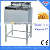 Factory wholesale freestanding double basket KFC chicken frying machine for sales