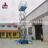 mobile telescoping hydraulic lift work platform/Mobile electric hydraulic aerial lifting work platform
