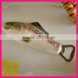 fashion antique cute wine fish shape metal beer bottle opener