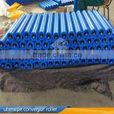 2016 hot sale dustproof waterproof carrier plastic roller hdpe/upe conveyor roller for industrial coal mining