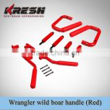 aluminum handle for wrangler with black and red color, wrangler aluminum jk handle, wild boar handle