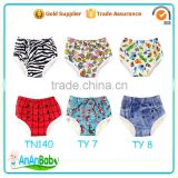 Prints Waterproof Girls Boys Cloth Underpants Reusable Baby Potty Training Pants