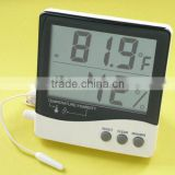 CE ROHS approval Digital thermometer & Hygrometer with Clock