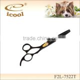 Professional SUS440C stainless Steel Black Titanium Coating Pet Grooming Thinning scissors