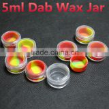 China non stick plastic jar for dab wax silicone stick container clear silicon oil jars concentrate containers