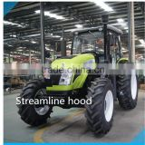 80hp tractor,12F+4R shift right side,hydraulic steering,dual disc clutch,540/1000 PTO,diesel engine,cabin with A/C