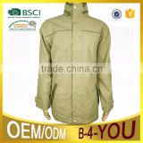 outwear apparel OEM custom outdoor best rain yellow jacket lapel jacket interlayer Jacket