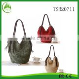 New Lady Tassel Paper Straw Bags Woven Vintage Large Shoulder Bag Women Summer Handbag Beach Bag