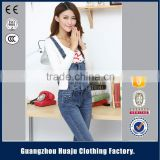 lady denim overalls denim jumpsuit for wholesale production