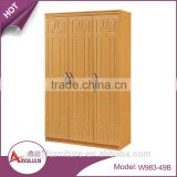 Foshan wholesale latest mdf bedroom almirah designs modern cheap wooden three door wardrobe