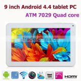 Cheapest HD 9 inch Android Tablet Quad Core For Android 4.4.4 Kitkat Camera WIFI Tablet PC