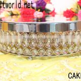 Wholesale high quality wedding cake stand with crystal for wedding & party decoration(CAKE-003)