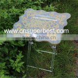 China manufacturer new design square acrylic folding coffee table                                                                         Quality Choice
