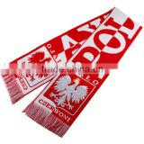 New Knitted Latest Design Poland Football Soccer Scarf