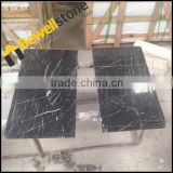 Black Color Square Marble Inlay Coffee Table Top