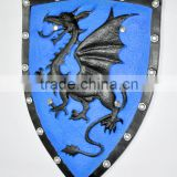Dragon Blue Shield, Simulation Animation PU shield, Animation Film Props Toy Factory Direct