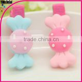 Selling the European and American children hair accessories Acrylic candy hair clips