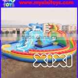 Outdoor large inflatable water amusement park with inflatable water slide for sale                                                                         Quality Choice