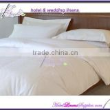 wholesale used hotel bed linens , hotel bedding sets made of 250TC white plain sateen fabric