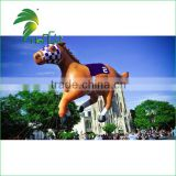 Giant Brown Customized Outdoor Parade Activity PVC Inflatable Helium Race Horse