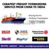 Sea Freight China to India - Reliable Shipping Agent - Cheapest Rates by LCL FCL