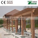 wpc outdoor wooden plants pergola, green tunnels in garden gazebo