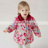 DB306 dave bella winter infant coat baby wadded jacket padded jacket outwear winter coat printed jacket