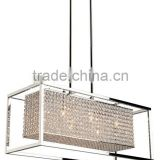 Glass shell and frame indoor decorative modern crystal pendant lamp