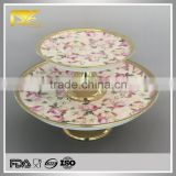 china supplier gold wholesale bulk ceramic plates, antique cake plates, custom ceramic plates