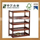 Wholesale antique simple design solid wooden shoe rack handmade wooden shoe display rack                                                                         Quality Choice