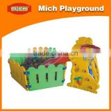 LLDPE plastic slide and ball pool children playground