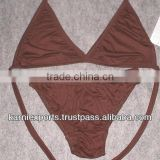 knitted cotton lycra dyed bra & brief sets for ladies & girls beachwear swimwear underwear lingeries