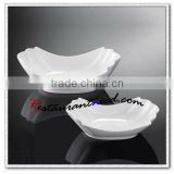 Y203 Porcelain Crimped Bowl Plate Ceramic Porcelain Plate Dishes Wholesale Dinner Plates for Weddings