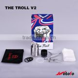 vape pen from china supplier Authentic RDA The Troll V2 new Wholesale price Black/SS RDA