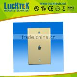 Telephone wall plate with RJ11 jack ,mounted faceplate