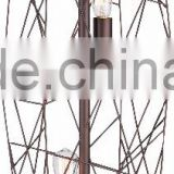 1025- 5 A handsome industrial style Wire Cage Floor Lamp antique bronze finish with gold accents