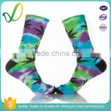 Fashionable Jacquard Top Quality Marijuana Leaf Stock Sock Wholesale Sports Socks