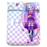 New Shiro - No Game No Life Japanese Anime Bed Sheet with Pillow Covers Blanket 1
