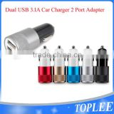 wholesale Car Charger 2.1A 1A Dual 2 Port USB 12V Power Adapter Charger for Samsung s6 iPhone 6s