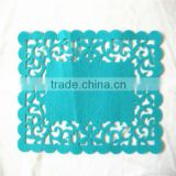 Cutout tablemat blue glass coaster clear acrylic coasters